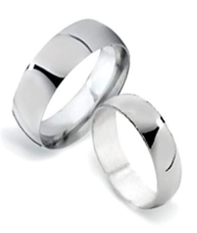 matching silver wedding bands. classic sterling silver matching wedding rings for couples   6mm bands justmensrings.com