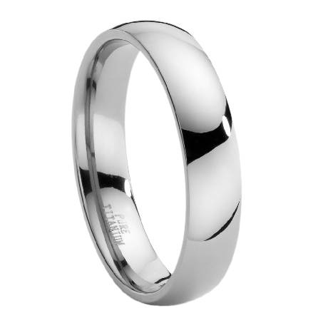 Merveilleux Comfort Fit Titanium Band With Domed Polished Finish U2013 6 Mm